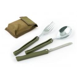 Набор походный COMFORTIKA (нож+ложка+вилка) в чехле