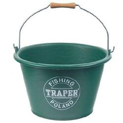 Ведро TRAPER для прикорма 17л (зеленое)