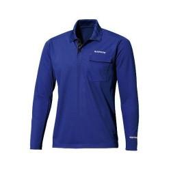 Футболка POLO SHIRT (long sleeve) SH-093N (синий)