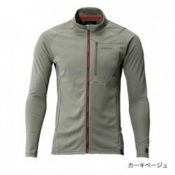 Футболка MS FULL ZIP SHIRT (long sleeve) SH-001N (серый хаки)
