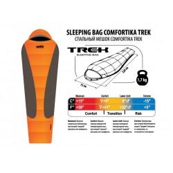 Спальник COMFORTIKA TREK L(с подголовником) +5C/-15C
