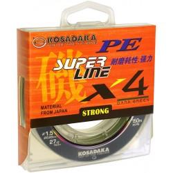 "KOSADAKA ""SUPER PE X4"" 150м (темно-зеленый)"