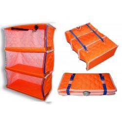 ПОЛОЧКА С БОРТИКАМИ ПИНГВИН (оранжевая)